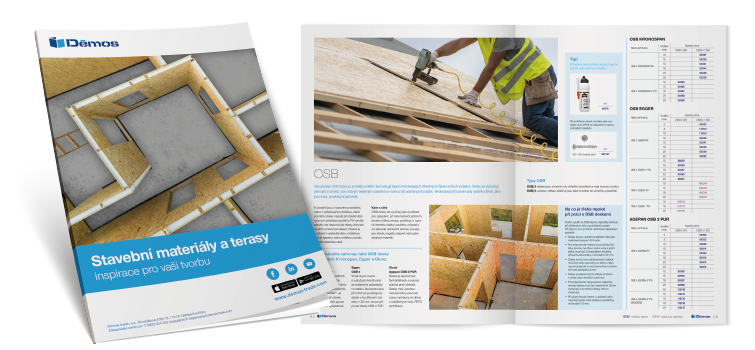 Brožura stavební materiály a terasy