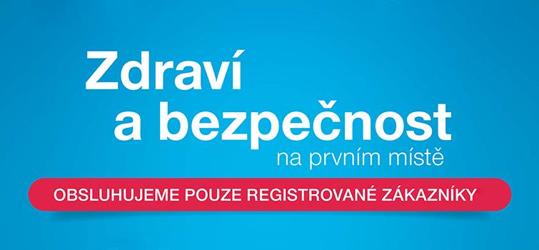 Provozovny otevřeny pouze pro registrované zákazníky