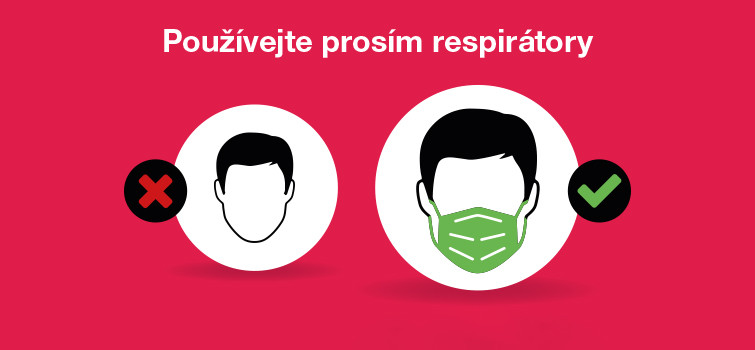 Prosíme o nošení respirátorů na našich provozovnách