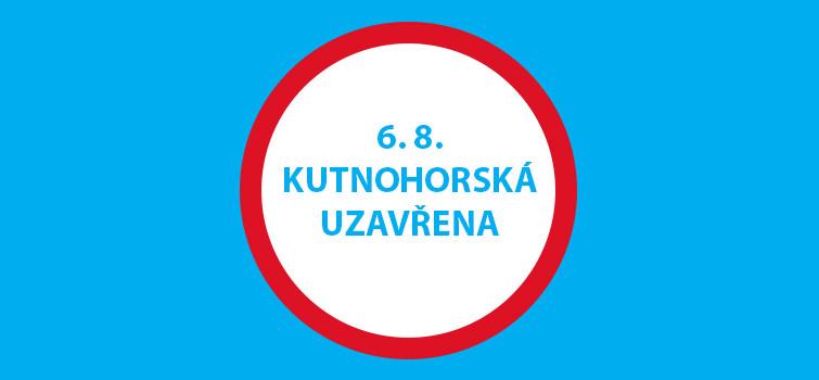 Uzavírka silnice Kutnohorská v Praze
