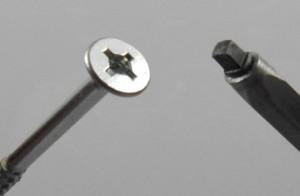 Vrut Uniquadrex 4x20 zápustná hlava zinek bílý