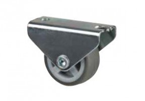 STRONG Kolečko 30 mm, šedé, pevné, měkčený běhoun