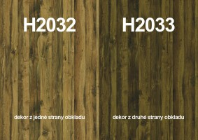 Zástěna H2032 ST10/H2033 ST10 4100/640/9,2