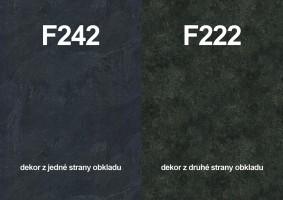 Zástěna F242 ST10/F222  ST76 4100/640/9,2