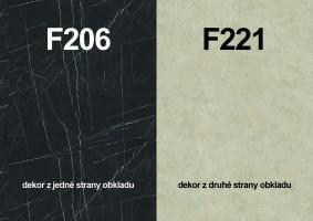 Zástěna F206 ST9/F221 ST87 4100/640/9,2