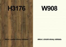 Zástěna H3176 ST37/W908 ST37 4100/640/9,2
