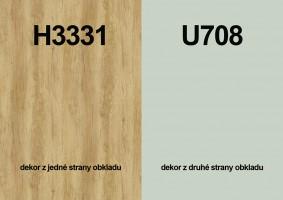 Zástěna H3331 ST10/U708 ST9 4100/640/9,2