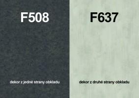 Zástěna F508 ST10/F637 ST16 4100/640/9,2