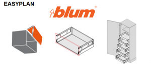 BLUM - EASYplan 300 - výpočet hodnot pro zpracování kování