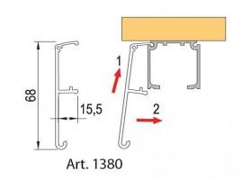 TERNO interiérové posuvné dveře 40-120kg, krycí profil 1380/A/S 6m