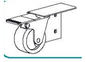 TERNO vozík s brzdou vpravo art. 306/D
