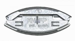 KNAPP K049 SILVER zásuvný spoj (slitina hliníku a zinku)
