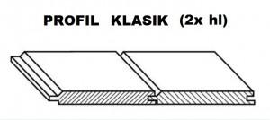 Palubky RT SMRK KLASIK oboustranně hladká 4000/96/19