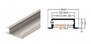 TM-profil LED Vario30-06 (2m) bílý