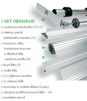 REHAU metallic-line set20mm 500/1000 hliník