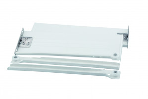 STRONG výsuv s bočnicí H150/500 bílý s hmoždinkou