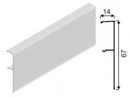 SEVROLL krycí profil Galaxy 1,5m stříbrný