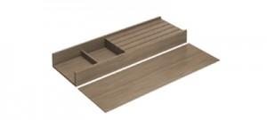 HETTICH 9199602 OrgaTray 230, držák na nože 150-275/500 mm ořech