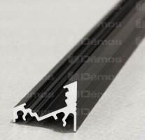 TM-profil LED Corner alu černý 1000mm