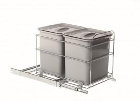VIBO PET40FC odpadkový koš 2x16 l 400 mm