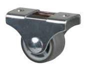 STRONG Kolečko 25 mm, šedé, pevné, měkčený běhoun