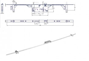 HOBES K 119 zámek tříbodový zinek bílý