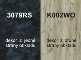 Zástěna K002WO/3079RS 4100/640/10
