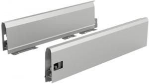 HETTICH 9121228 ArciTech bok 126/650 mm stříbrný P