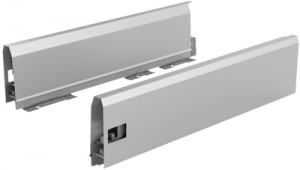 HETTICH 9121225 ArciTech bok 126/550 mm stříbrný L