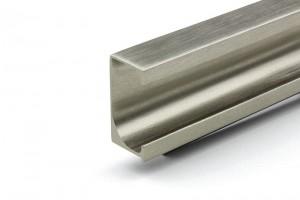 TULIP Narážecí úchytový profil Teppo 497mm světlá nerez