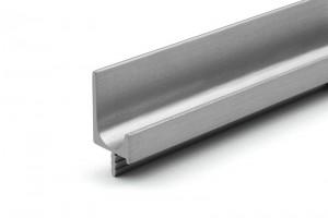 TULIP Narážecí úchytový profil Juvio 447mm světlá nerez